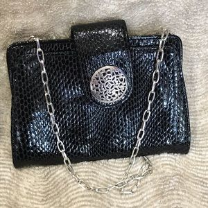 NWOT Brighton Clutch/Shoulder Bag Black